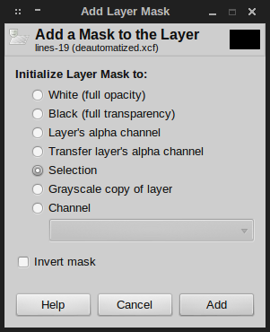 GIMP layer mask