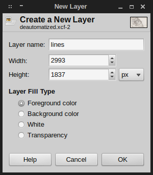 GIMP new layer